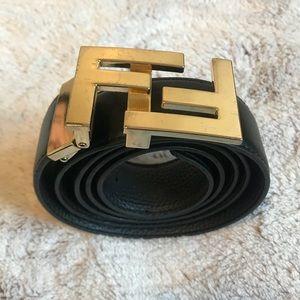 Black FENDI Reversible leather belt